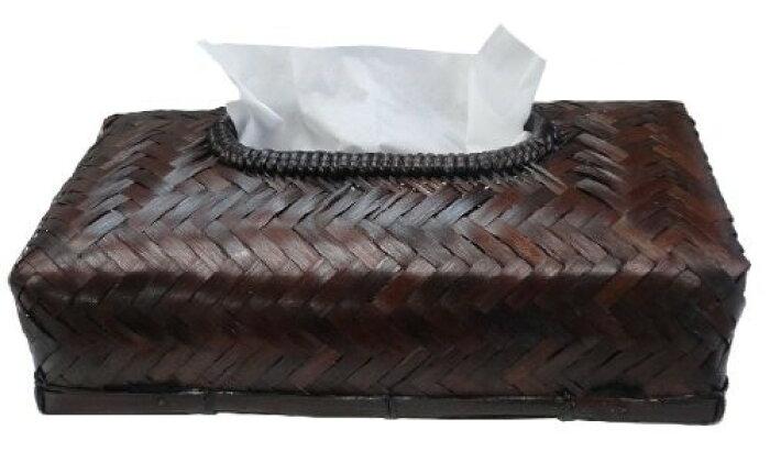アビテ アジアン風 竹製ティッシュボックスケース バンブーティッシュボックスカバー HZ-072-BR★