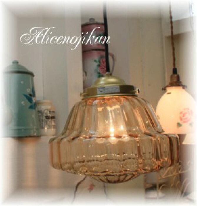 / 【アンティーク照明】 【送料無料】【LED電球対応】<BR>G-24001BR 大正浪漫ランプ アンバー 【アリスの時間】★
