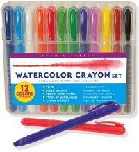 StudioSeriesWatercolorCrayonSet(12WaterSolubleGelCrayons)[PeterPauperPress]