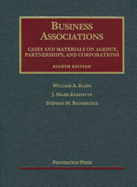 BusinessAssociations,CasesandMaterialsonAgency,Partnerships,andCorporations,8th