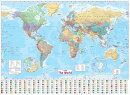 World Wall Laminated Map