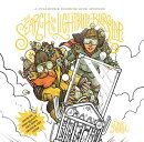 The Search for the Lightbulb Burglar: A Steampunk Coloring Book Mystery