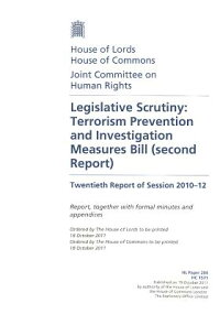 LegislativeScrutiny:TerrorismPreventionandInvestigationMeasuresBill(SecondReport)Twentieth