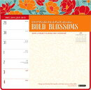2015-Bold Blossoms Weekly Desk Pad