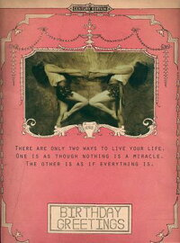 Miracle-GreetingCards,Pkgof6:Greeting:ThereAreOnlyTwoWaystoLiveYourLife.OneIsasT[BeijoBrasilDesigns]