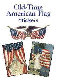 OLDーTIME_AMERICAN_FLAG_STICKER