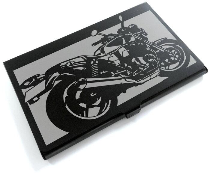 切り紙屋 ブラックアルマイト「ホンダ(HONDA) CB1100」切り絵デザインのカードケース[BC-023][M便1/4]