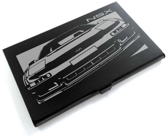 切り紙屋 ブラックアルマイト「ホンダ(HONDA) NSX」切り絵デザインのカードケース[CC-017][M便1/4]