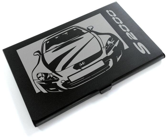 切り紙屋 ブラックアルマイト「ホンダ(HONDA) S2000」切り絵デザインのカードケース[CC-045][M便1/4]