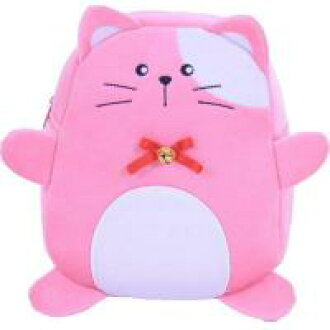 mh-bag-bellcat可爱的动物脸的帆布背包suzu猫黄金