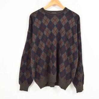 菱形花纹丙烯编织物毛衣人l preswick&moore/wai1852