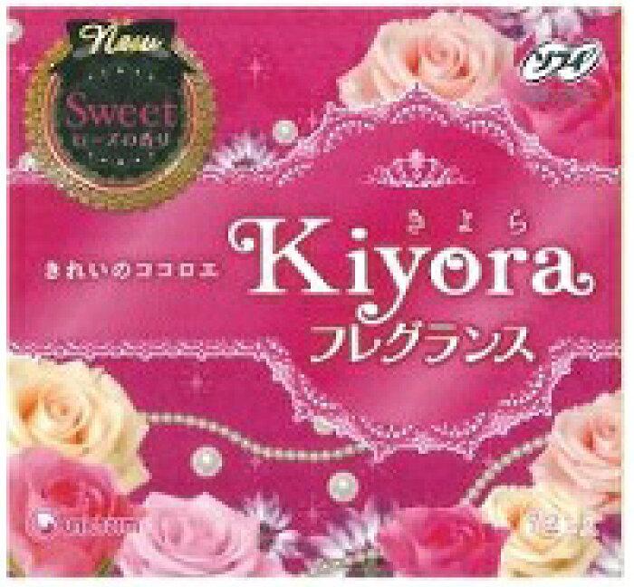 <br>ソフィ Kiyora (きよら) フレグランススイート やさしいローズの香り 72枚入/ ユニチャーム