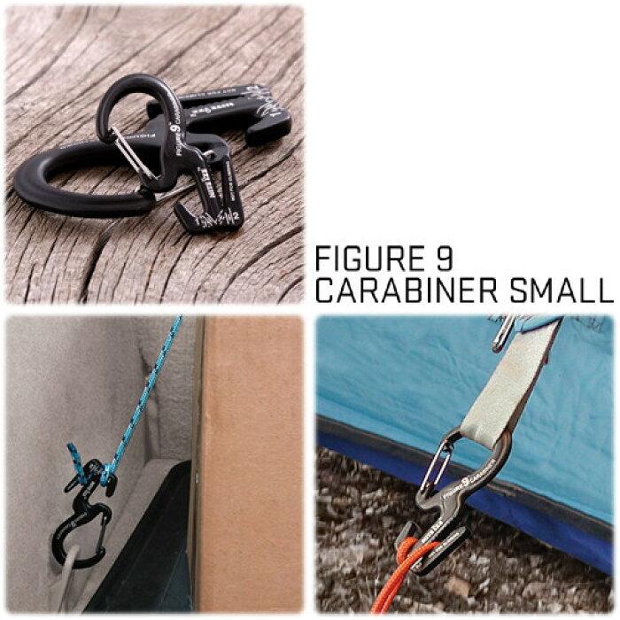 NiteIze <br>FIGURE9 CARABINER <br>(フィギュア9カラビナ)<br>ロープを結ばすしっかり固定 <br>Sサイズ