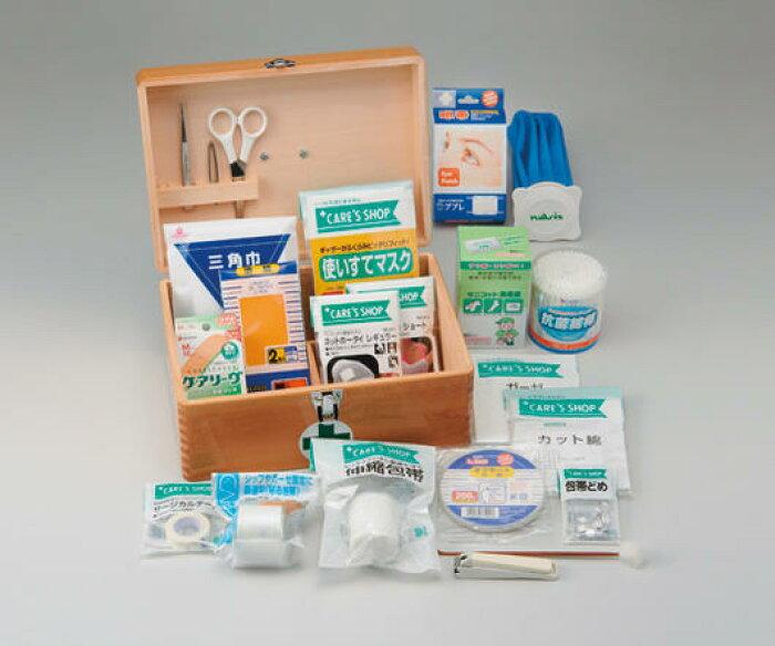 <br>救急セット プラスチックケースタイプ 21点入<br> 【 救急箱】【薬箱】【くすり箱 】【救急セット】【薬入れ】