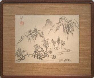 """万鉄五郎""""风景画""""水碳黑亲笔画"""