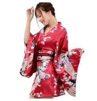 日本彩色和服简笔画