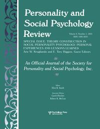 TheoryConstructioninSocialPersonalityPsychologyPersonalExperiencesandLessonsLearned:ASpecialIssueofpersonalityandSocialPsychologyReview