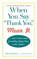 When You Say 'thank You,' Mean It