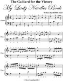 Galliard for the Victory My Lady Nevells Book - Easy Piano Sheet Music