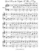 Lord from the Depths to Thee I Cry - Easy Piano Sheet Music