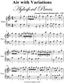 Air With Variations Aylesford Pieces - Easy Piano Sheet Music