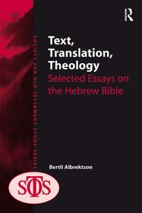 Text,Translation,TheologySelectedEssaysontheHebrewBible