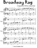 Broadway Rag - Easiest Piano Sheet Music for Beginner Pianists