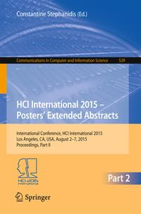 HCIInternational2015-Posters'ExtendedAbstractsInternationalConference,HCIInternational2015,LosAngeles,CA,USA,August2-7,2015.Proceedings,PartII