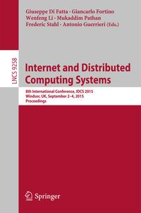 InternetandDistributedComputingSystems8thInternationalConference,IDCS2015,Windsor,UK,September2-4,2015.Proceedings
