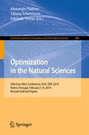 Optimization in the Natural Sciences