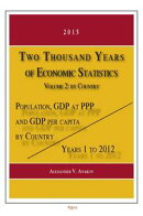 Two Thousand Years of Economic Statistics, Years 1 - 2012