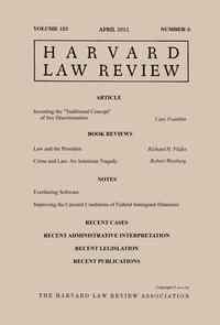HarvardLawReview:Volume125,Number6-April2012
