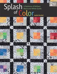 SplashofColorARainbowofBrilliantBlack-and-WhiteQuilts