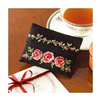 9015 组织案例玫瑰花刺绣温柔小花图案刺绣套件系列