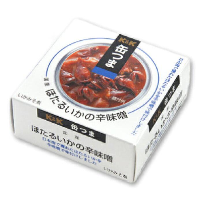 K&K 缶つま 国産ほたるいかの辛味噌 90g 【缶つま 缶詰 KK ほたるいか いか イカ つまみ】《あす楽》