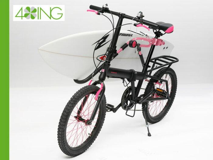"""""""フォーイング (4ING) 自転車用サーフボードキャリアセット BICYCLE CARRIER""""《送料無料》 【サーフボード運搬に!軽量で取り外し可能】サーフ サーフィン サーファー SURFIN SURF SURFER 便利/自転車 BICYCLE"""