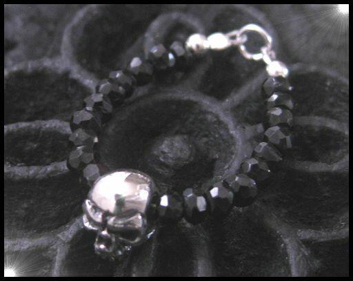 ブラックスピネルリング(スカル)09号・11号・13号・15号・17号・19号・21号・23号/ドクロ天然石シルバー925銀【メイン】(メンズ)/(メンズ)リング 指輪 (SILVER925 SKULL RING)(補充11)送料無料!