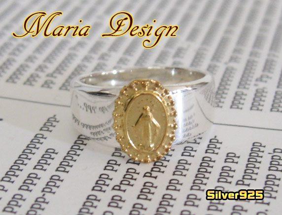 マリアリング(5)SV+G07号・09号・10号・11号・12号・13号・14号・15号/シンプルシルバー925銀 【メイン】/(レディース)マリア リング 指輪 アクセサリー(SILVER925 MARIA RING )送料無料!