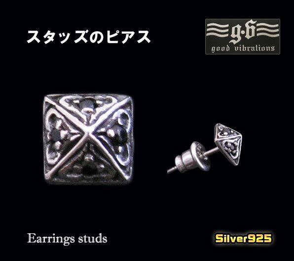 good vibrations【GV】スタッズピアス(2)BCZ/シルバー925製【メイン】(メンズ)(レディース)goodvibrations送料無料!