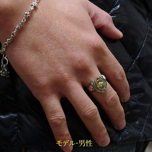 【GV】フリーメイソンとホースシューの指輪17号フリーサイズ/(メイン)(新品11月)シルバー925銀指輪・リング馬蹄・蹄鉄