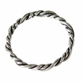 デザインリング(47) メイン 編み込み シンプルな指輪 シルバー925 銀 送料無料 おしゃれ メンズ レディース
