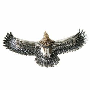 イーグルペンダント(2)頭金 メイン ネイティブアクセサリー シルバー925 銀製メンズ レディース ネックレス フェザー 鳥 パーツ 動物 送料無料 おしゃれ