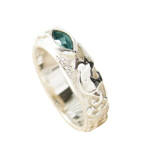 good vibrations(GV)ネコとロンドンブルートパーズの指輪(1) メイン 動物 猫 ねこ 天然石 パワーストーン 指輪 リング シルバー925製 銀 アクセサリー メンズ レディースgoodvibrations 送料無料 おしゃ