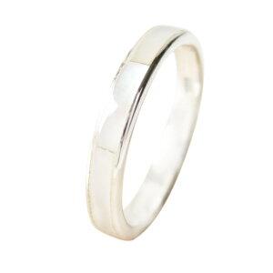 シェル1ラインリング(2)白シェルメイン 天然石 パワーストーン 指輪 リング シルバー925製 銀 アクセサリー メンズ レディース 送料無料 おしゃれ