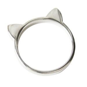 ネコ耳カチューシャリング(1) メイン 指輪 リング シルバー925製 銀 アクセサリー メンズ レディース 送料無料 おしゃれ
