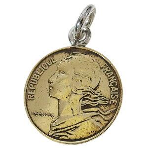 本物のフランスのコインペンダント(5) メイン シルバー925製 銀 硬貨メンズ レディース 送料無料 アクセサリー 送料無料 おしゃれ