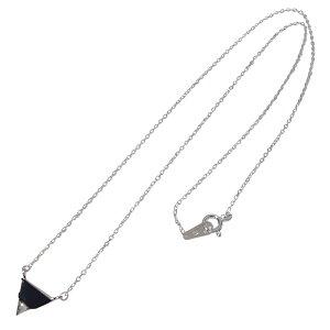 ネックレス トライアングル(1)オニキス メイン シルバー925製 銀 オニキス天然石パワーストーンレディース 送料無料 アクセサリー 送料無料 おしゃれ