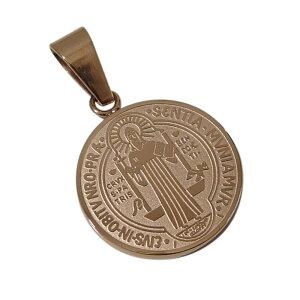 ステンレスペンダント 聖ベネディクトゥスのコイン(4)ピンクゴールド メイン サージカルステンレス316L クロス 十字架 ペンダントメンズ レディース 送料無料 アクセサリー 送料無料 おしゃ
