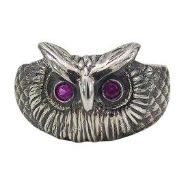 フクロウの指輪(3)RCZ07号 09号 11号 13号 15号 シルバー925 銀 メンズ レディース アクセサリー 梟 動物 指輪 リング aft