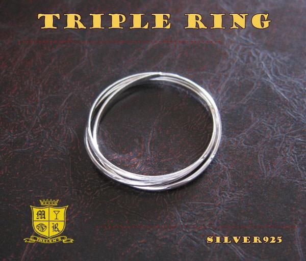 3連リング(1)05号・06号・07号・08号・09号・10号・11号・12号・13号・14号・15号・16号・17号・18号・19号・20号・21号・22号・23号/(メイン)(新品529)シルバー925銀シンプル指輪ピンキーリングレディース女性送料無料!